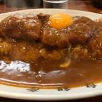 103577051 - トンカツカレー大盛生卵③