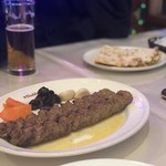 アラジン - クビデカバブ。マトンの挽肉の様なもの。味付けがしっかりされていて美味しい♪