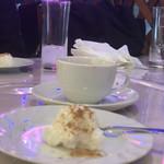 アラジン - ライスプディングと食後のコーヒー。ライスプディングは私にとって、お米が甘いことが受け入れられませんでした…。