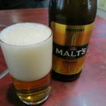 芳味園 - 瓶ビール(サントリーザ・モルツ)
