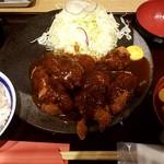 牛カツ専門店 京都勝牛 - ひとくちデミグラス牛カツ膳:1,080円