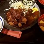 牛カツ専門店 京都勝牛 - ご飯・味噌汁お替り!