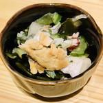 地酒蔵大阪 - お通し♡、サッパリとして美味しかったです♪