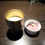 103589148 - ホットコーヒー&ブドウアイス(19/03)