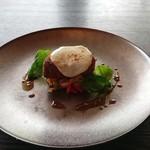 Mar Rosso - 霧島山麗ポークのコトレッタ スカルモルツァチーズの炙り 春野菜のカポナータ