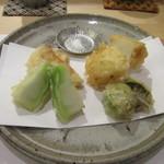 そばと酒 えもり - 「春野菜天ぷら」