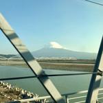 ベーカリー&レストラン 沢村 - 新幹線からの富士山
