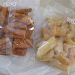 島の煎餅 - 料理写真:型崩れお買得品210円