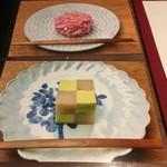 ゼンカフェ - 見本の生菓子