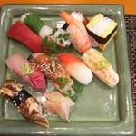 玄海鮨 - 梅にぎり +アナゴ+エビ炙り