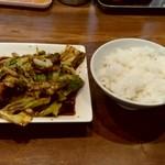 陳麻家 - 【2019.3.13(水)】日替定食のホイコーローとご飯