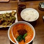 103615792 - 【2019.3.13(水)】陳麻家定食(担々麺+ホイコーロー)900円→550円