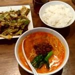 103615798 - 【2019.3.13(水)】陳麻家定食(担々麺+ホイコーロー)900円→550円