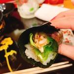 奴寿司 - 追加で海老サラダ
