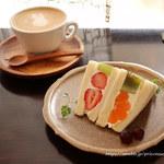 JULES VERNE COFFEE - フルーツサンドとカフェラテ
