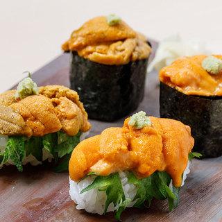 【お勧め】雲丹(紫・バフン)の食べ比べ¥2000