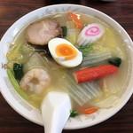 五芳斉 - 「五目そば+半焼き肉丼(小)セット」830円の五目そば