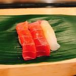 すし処 會 - 料理写真:とろ、しまあじ