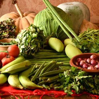 自家栽培のインド野菜や本場から仕入れるスパイスで作る本格料理