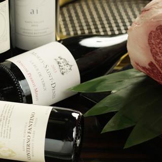 ソムリエが厳選した、焼肉に合うワインが30種類以上!