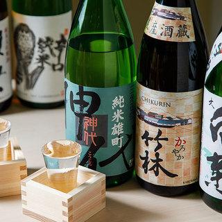 各種、地酒や日本酒も取り揃えております。