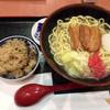 めん処 たぬき - 料理写真:沖縄そばセット(ジューシー選択)