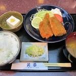 笑夢 - 料理写真:笑夢のお昼(日替わり):サバフライ