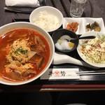 牛勢 - カルビ麺定食