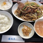 103638530 - 牛肉の黒胡椒炒め定食