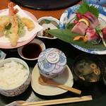 海鮮れすとらん 四季庵 - 天ぷら刺身膳(華)