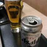かつや - ビールは缶になってた!ちょっとびっくり       豚汁が写ってた!
