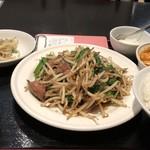 祥龍房 - ニラレバー定食:620円