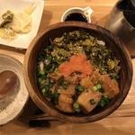 こめらく たっぷり野菜とお茶漬けと。 - 角煮・高菜・明太子の博多ごはん ¥1180