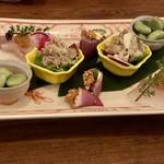 ミニヨン 坂ノ上 - 前菜の盛り合わせ