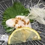 明徳  - 料理写真:トラフグ白子の刺身(食べかけ)