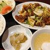 翠月 - 料理写真:回鍋肉定食1080円