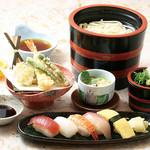 季の屋 - にぎり天ぷら湯だめうどん膳