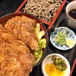 そば処 日本ばし - 料理写真:鮪かつ丼そばセット 1000円