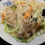 中国料理 晴華 - 野菜炒めアップ
