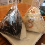 釜炊きおにぎり 筑波山 縁むすび - 山菜と納豆