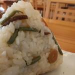 釜炊きおにぎり 筑波山 縁むすび - 山菜