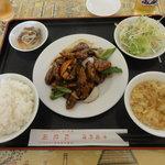 紅龍閣 - <ランチメニュー>豚肉と茄子のピリ辛味噌炒め \780