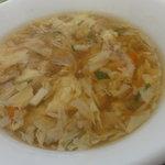 紅龍閣 - セットのスープ(玉子スープ)