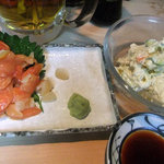 10368797 - あおやぎ刺、ポテトサラダ