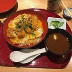 遊食豚彩 いちにいさん - 黒豚ばらカツ丼セット(税込み980円)