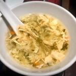 東方紅 - セットのとろみある卵スープ