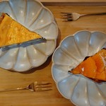 やき菓子 野里 - ベイクドチーズのタルト、デコポンのタルト