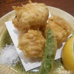 オサカナヤ魚魚権 - 真鱈白子の天ぷら