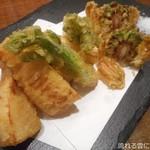 オサカナヤ魚魚権 - 春野菜の天ぷら盛り合せ