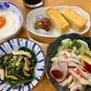 アトム食堂 - 料理写真:ごま和え 120円 卵焼き 160円 とろろ 300円 サラダ 200円 全て外税